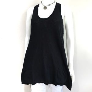 VINCE Knit Swing Sleeveless Pocket Front Tunic Top